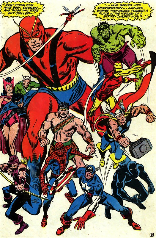 Avengers 58 John Buscema splash 1968