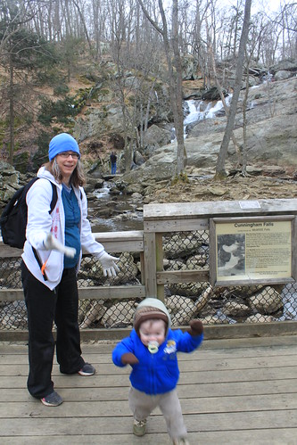 Cunningham Falls - Falls Trail - Sagan Has More Important Things to Do Than to Pose with Mommy
