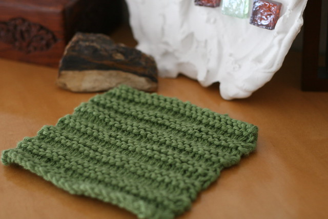 knit by lily - washcloth