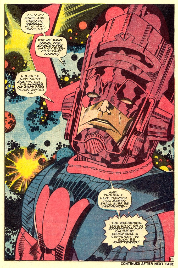 Fantastic Four 74 Galactus splash page 1968 Kirby