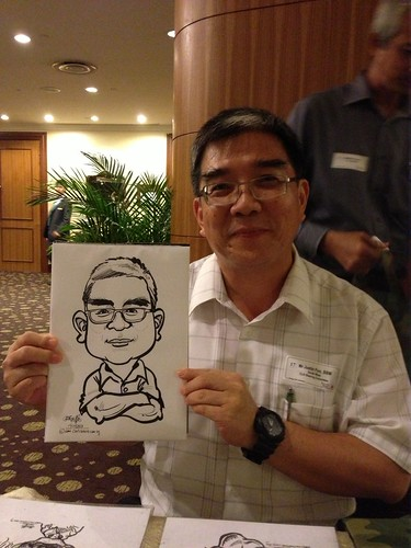 caricature live sketching for South West ComCare Local Network Anniversary Dinner cum ComCare Awards 2013 - c