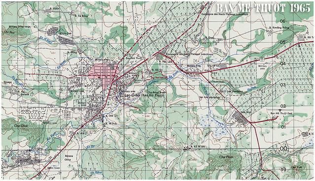 Bản đồ BAN MÊ THUỘT 1965