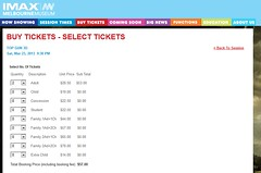 Ticket prices for IMAX at the Melbourne Museum