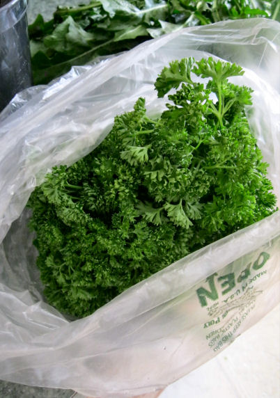 Parsley in Juice