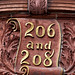 206 and 208