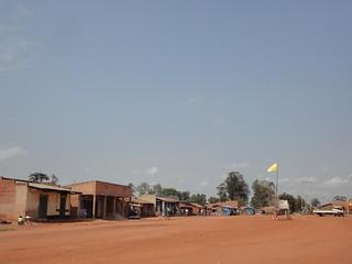 Centro da cidade de Aru no Congo