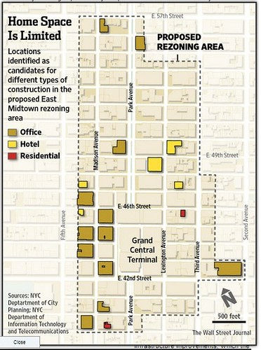 Midtown Manhattan rezoning area