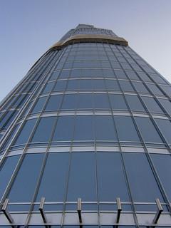 Façade du sommet de la Burj Khalifa Tower