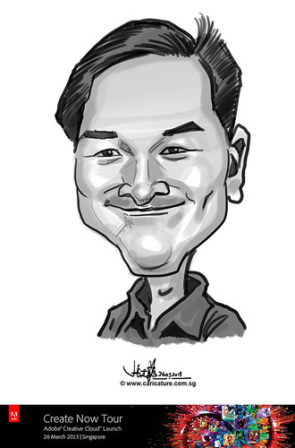 digital caricature for Adobe Create Now Tour - 2