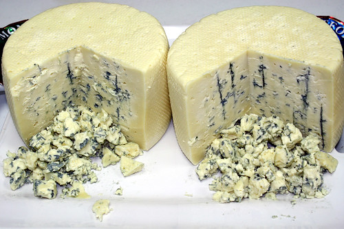 The Wisconsin Farmers Union Specialty Cheese Company produces this award winning Montforte Blue Cheese. USDA photo.