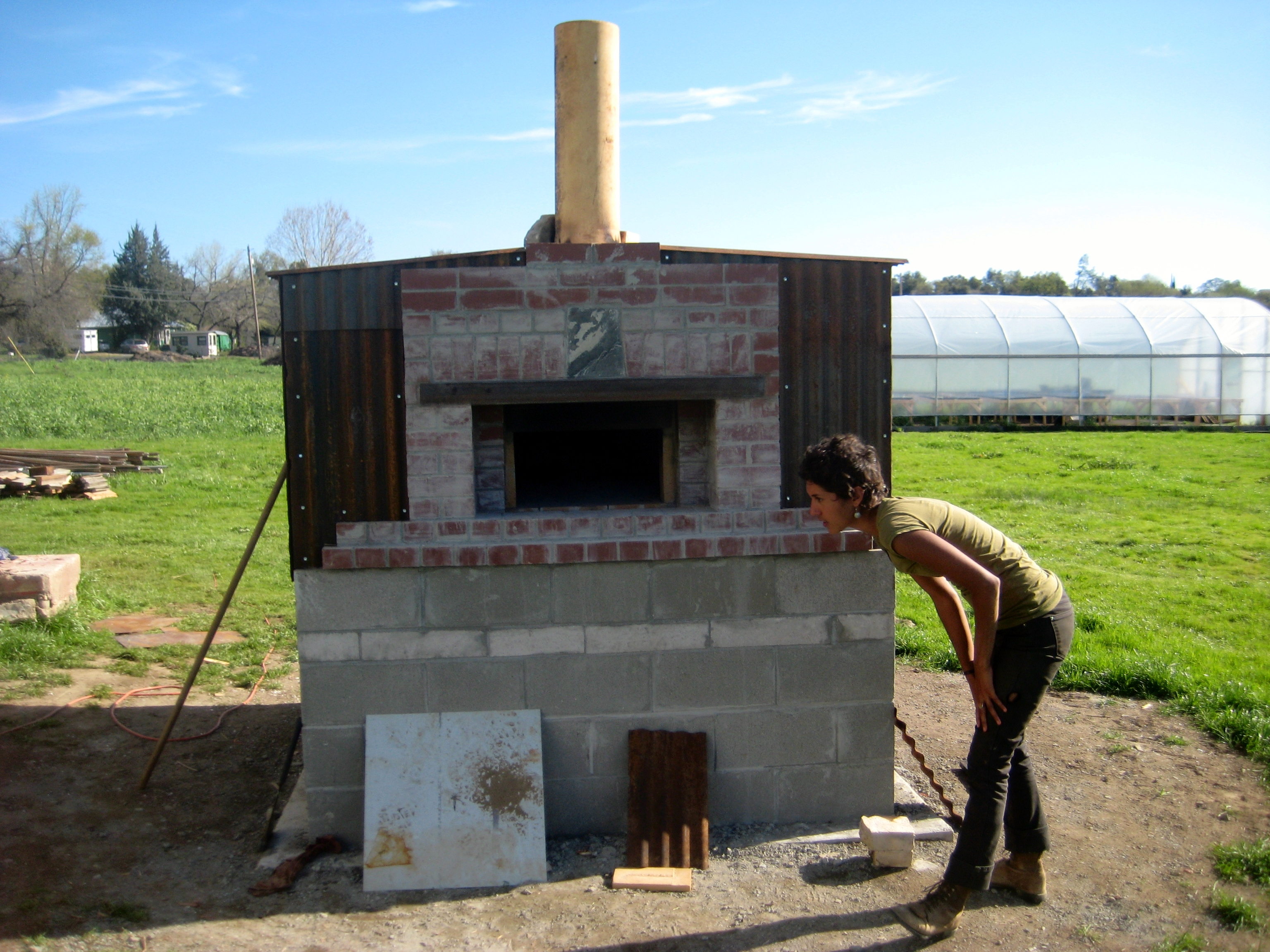 New wood fired oven