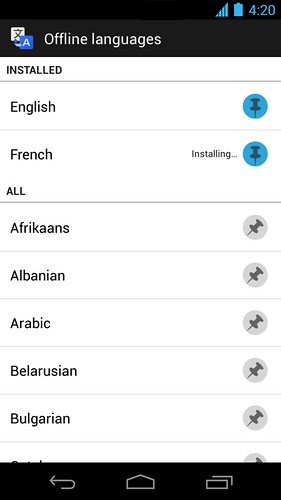 Android google Translate