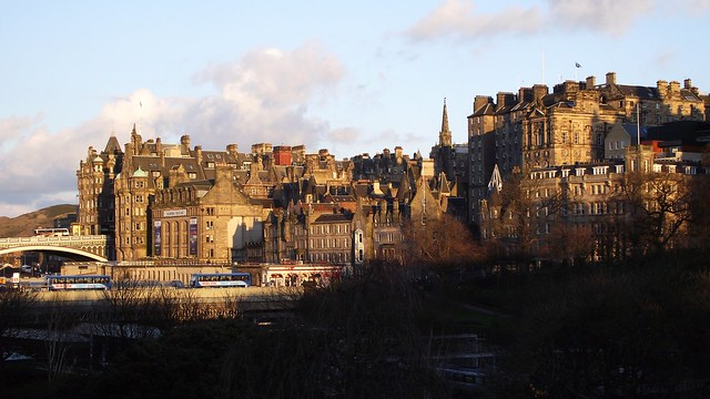 Edinburgh skyline, spring sunset 02