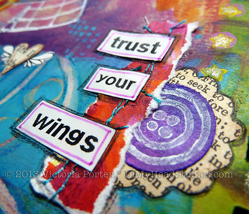 """Soar & Fly"" Art Journal Page : Trust Your Wings"