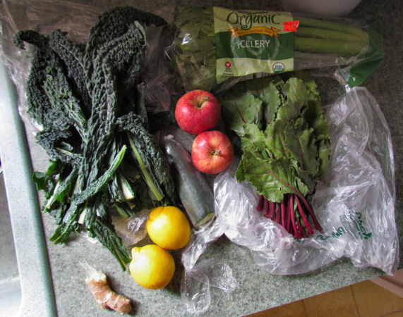 Fresh Green Juice Ingredients