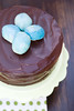 Chocolate Cake with Ganache Frosting and Chocolate Truffle Easter Eggs
