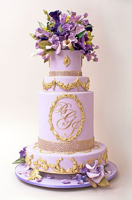 Ron Ben Israel Purple Wedding Cake