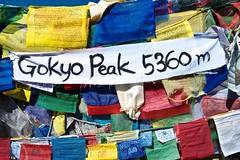 Gebetsfahnen auf dem Gipfel des Gokyo Ri, 5360 m. Foto: Archiv Härter.
