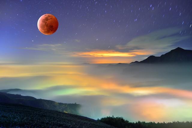 ~中秋節快樂......七彩琉璃~ happy full moon festival