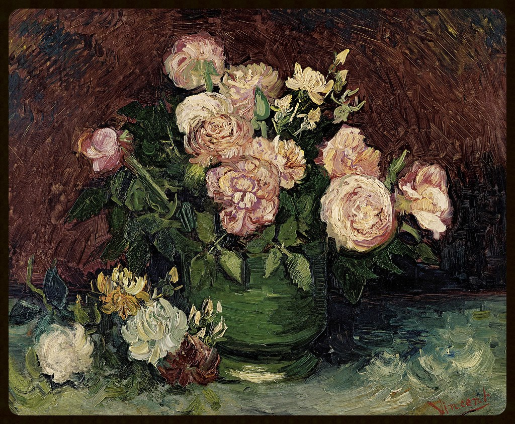 Vincent van Gogh Dutch 1853–90 Roses and Peonies 1886 oil on canvas 59.8 x 72.5 cm Kröller-Müller Museum, Otterlo © Kröller-Müller Museum