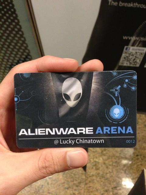 Alienware Arena - Member's Card