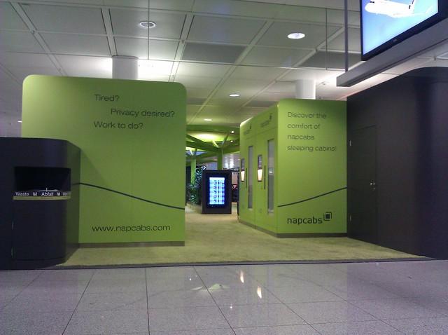 nap capsules in Munich airport