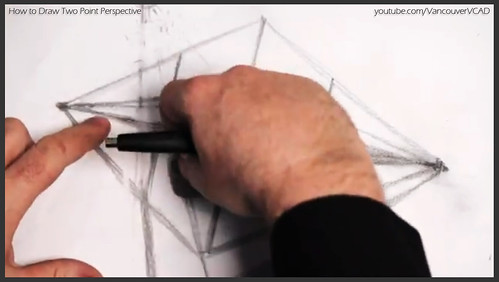 2D design how to draw in two point perspective 012