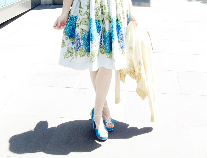 vintage hydrangea dress b