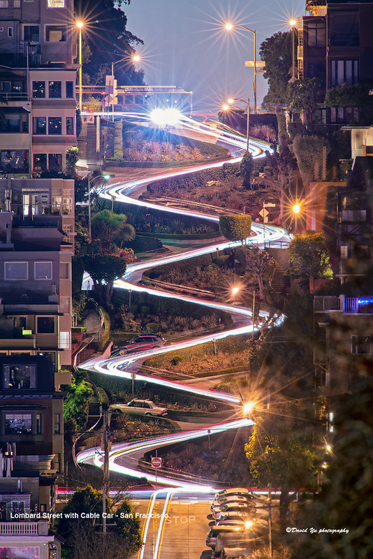 Lombard Street with Cable Car - San Francisco
