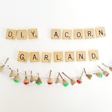 DIY Dollhouse Acorn Garland