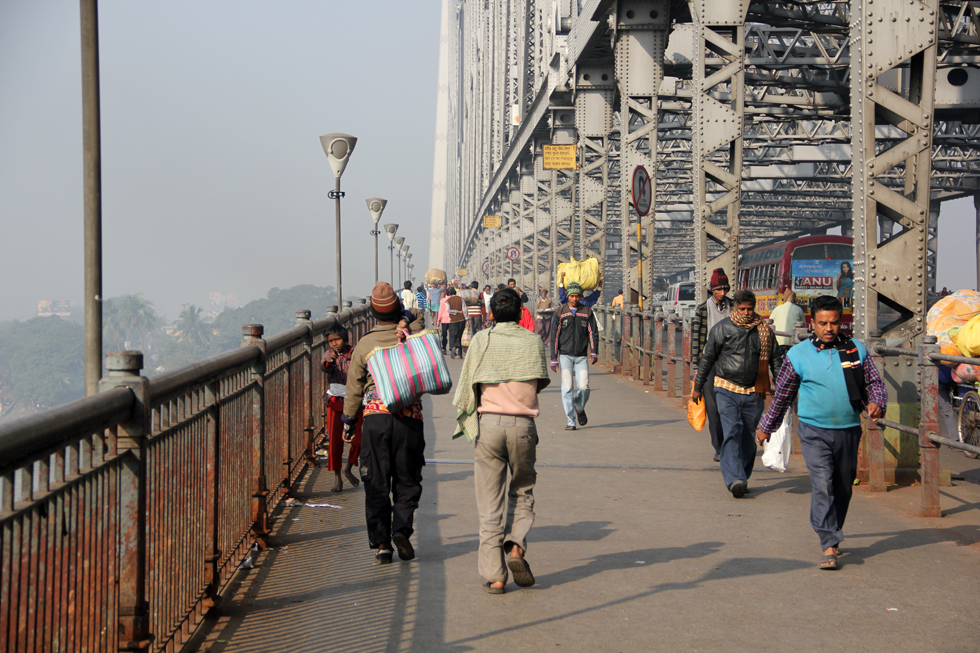 The always busy Howrah Bridge