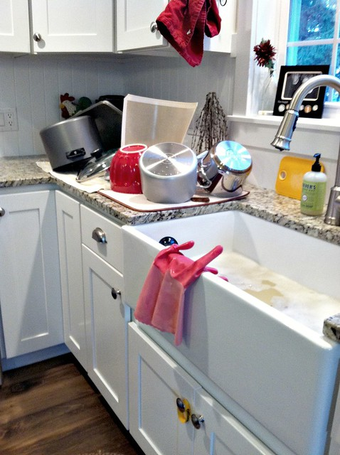 Kitchen Sink With Clean Dishes our farmhouse sink - tips to clean and care for porcelain sinks