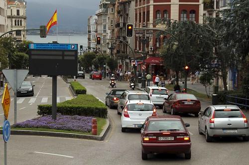 Una calle de Santander
