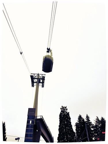 Portland aerial tram seen from below