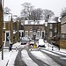 A snowy road in Lewisham