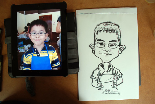 caricature sketching for a birthday party 07072012 - 10
