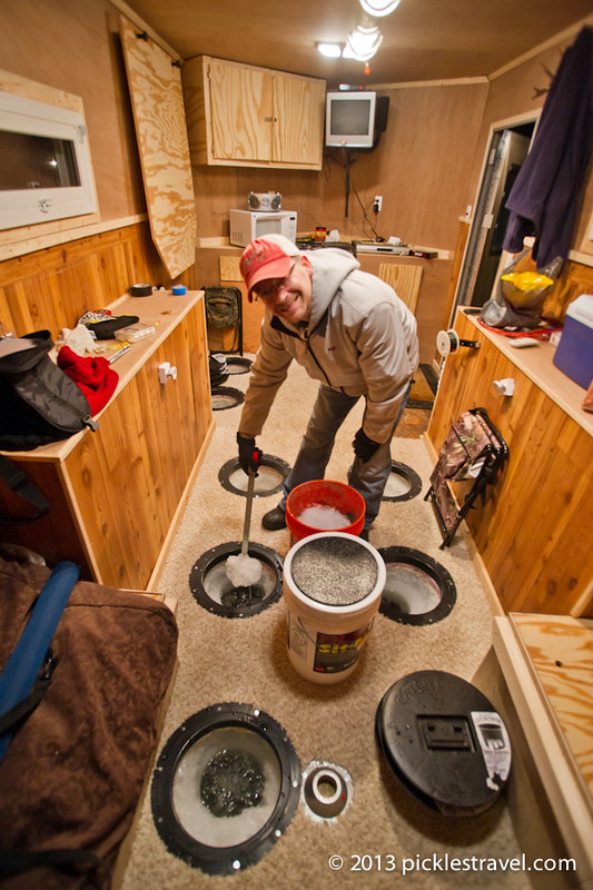 The basics of ice fishing minnesota living for Fish house heaters