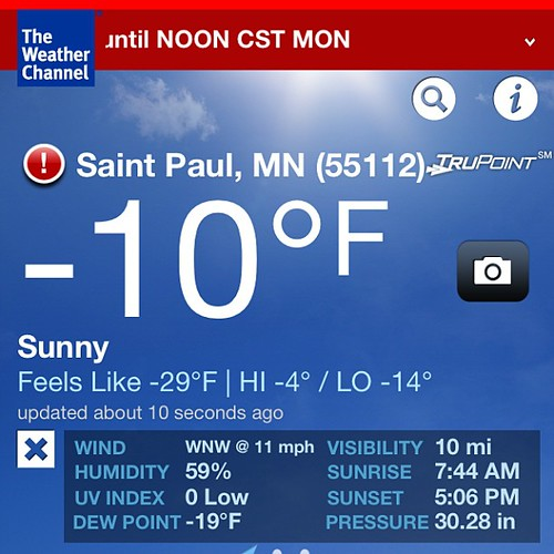 Unfortunately forced out into this for my 28 week #glucosetest. What's the point of living in MN, if we don't get to brag on the extremes every once in awhile?