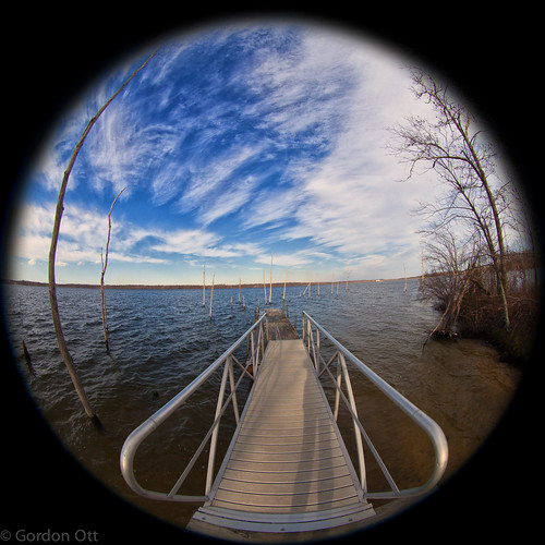 trees sky water landscape dock fisheye entry manasqaunreservoir