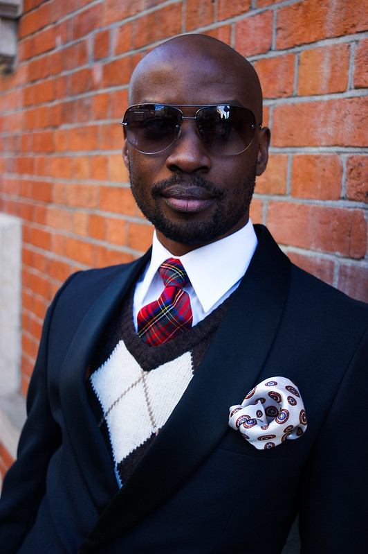 Street Style - David Nyanzi, London Collections: Men