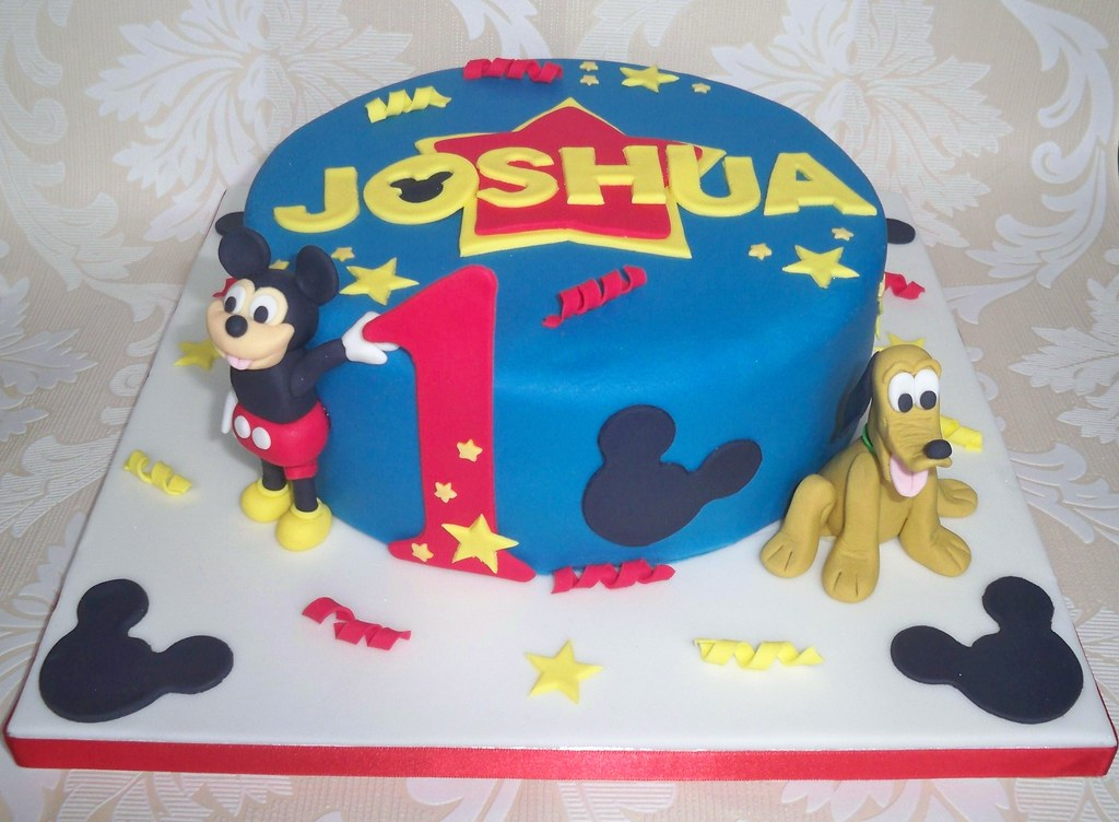 Surprising Mickey Mouse And Pluto Birthday Cake Iced Indulgence Flickr Funny Birthday Cards Online Elaedamsfinfo