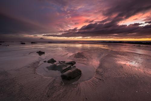 ocean california ca sunset sky clouds morrobay northbluff