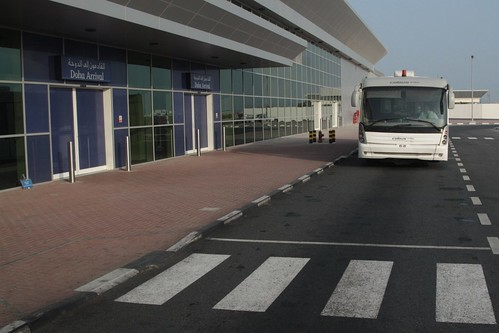 Airside of the Doha International Airport arrivals terminal