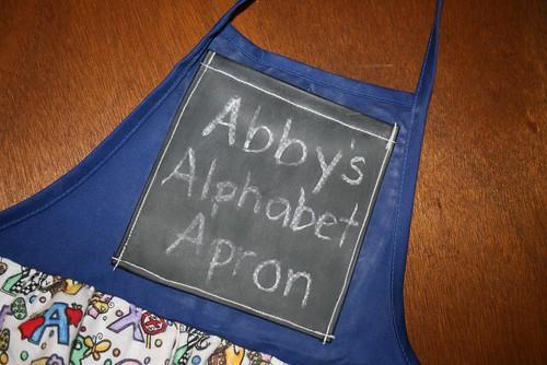 Alphabet Apron