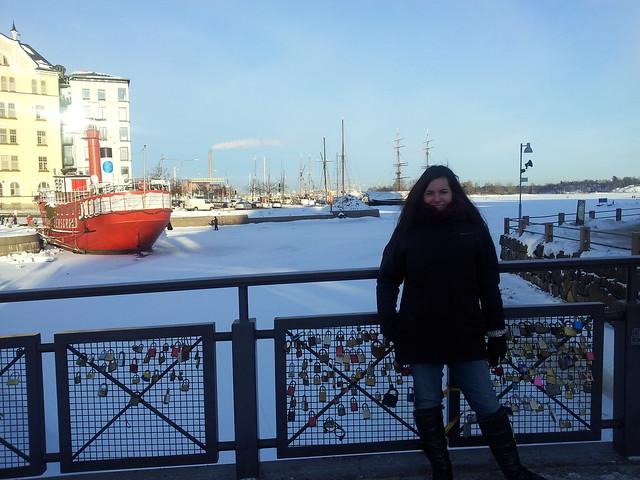 Bihotz, frente al mar congelado de Finlandia