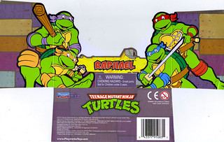 TEENAGE MUTANT NINJA TURTLES - CLASSIC COLLECTION :: RAPHAEL ..card insert (( 2012 ))