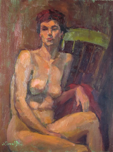 Nude with Green Chair by elle3b