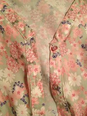 Frumpy Floral Dress Refashion - In Progress