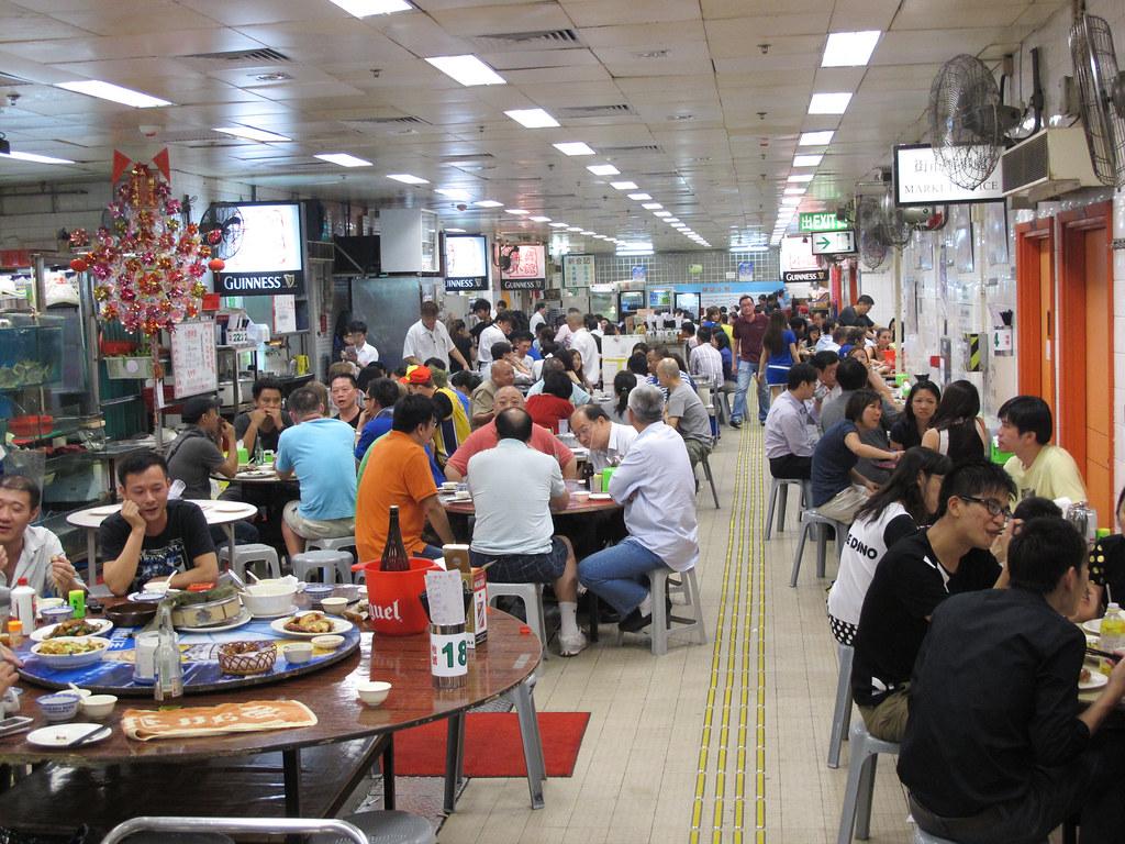 """Hong Kong """"Dai Pai Dong"""" Side-walk Food Stall 北角東寶小館大排檔 ..."""