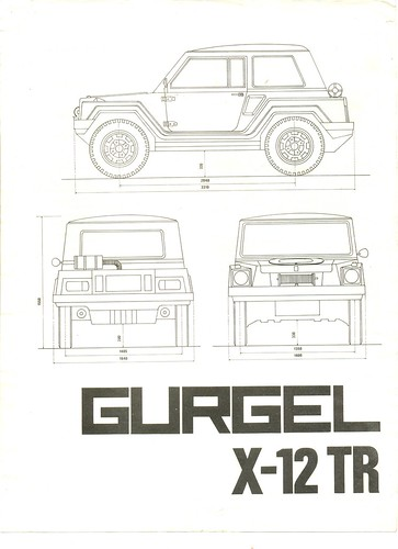 Folheto Gurgel X-12 TR 1979 - 01